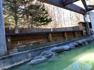 奥日光高原ホテル露天風呂からの景色