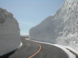 蔵王エアコーライン、雪の回廊