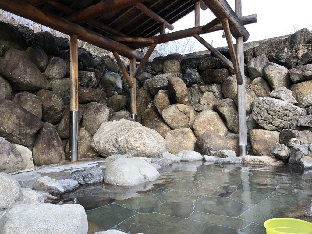 入浴した露天風呂