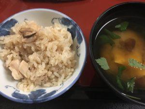 晩飯松茸ご飯