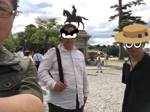 青葉城にて